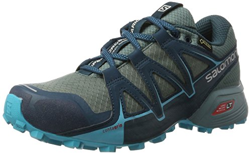 Salomon Speedcross Vario 2 Gtx, Scarpe da Trail Running Donna, Grigio (Artic/north Atlantic/blue Bird Artic/north Atlantic/blue Bird), 39 1/3 EU