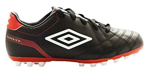 Umbro Umbro Classico Jr AG Chaussures de football pour enfant Negro / Blanco / Vermillion
