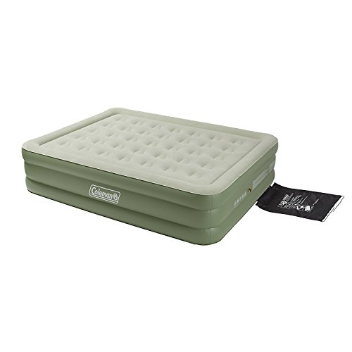 41evaaMmZhL. SS500  - Coleman Airbed Maxi Comfort Bed Raised King, Camping Mat, Flocked Air Bed, Inflatable Double Height Air Mattress, Blow…