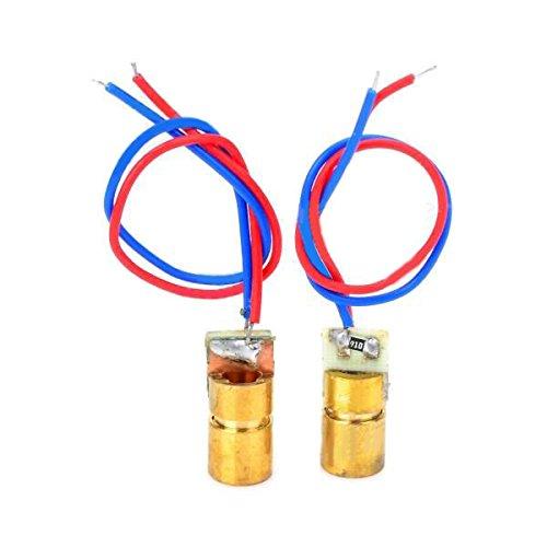 Für Arduino Kits Zubehör LDTR-YJ0034 5V Rote Laserdioden für Spielzeug / Instrumente - Golden + Red + Blue (2 PCS) (Laser Red Kit)