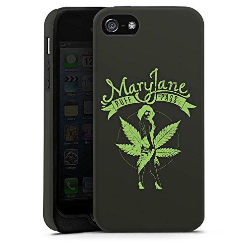 Apple iPhone X Silikon Hülle Case Schutzhülle MaryJane Marihuana Hanf Tough Case matt