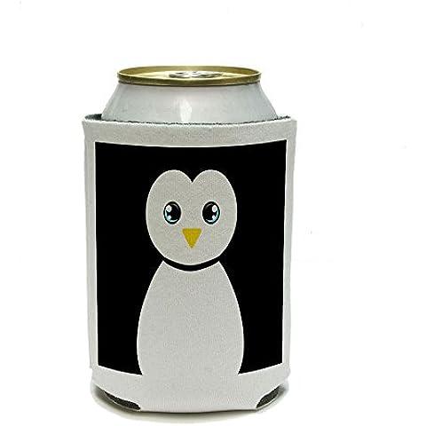 Pingüino Negro y Blanco puede cooler–Bebida Insulator–Bebida aislado titular