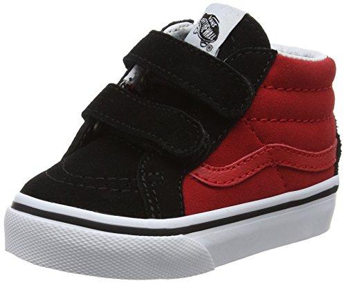 Vans Unisex Baby Sk8-Mid Reissue V Laufschuhe, Rot (Black/Racing Red2-Tone), 19 EU (Racing Unisex Schuhe)