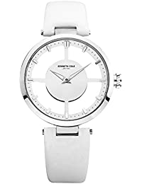 Kenneth Cole - KC2609 - Transparency - Montre Femme - Quartz Analogique - Cadran Blanc - Bracelet Cuir Blanc
