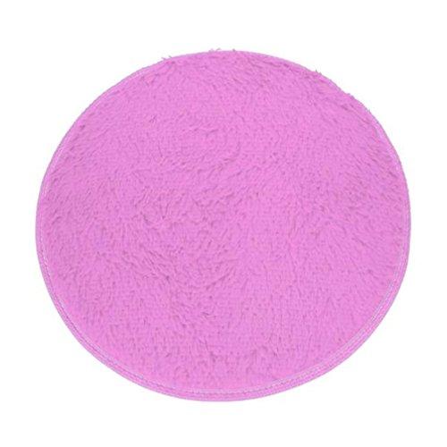 Xshuai Neuer Entwurf 60cm Durchmesser haltbar weiches Bad Schlafzimmer Fußboden Dusche runder weicher Matte Teppich rutschfest (grün / schwarz / Balu / Rosenrot / Lila / Rot) (Lila) (Lila Spray-flasche)