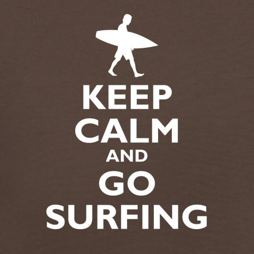 Keep Calm and Go Surfing - Herren T-Shirt - 13 Farben Schokobraun