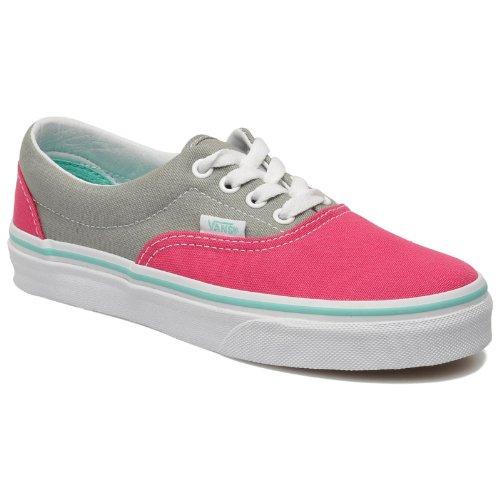 vans-classic-era-grey-fuchsia-kids-trainers-size-12-uk
