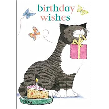MOG The Cat Birthday Card Wishes