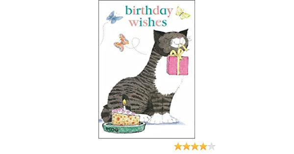 MOG The Cat Birthday Card Wishes Amazoncouk Office Products