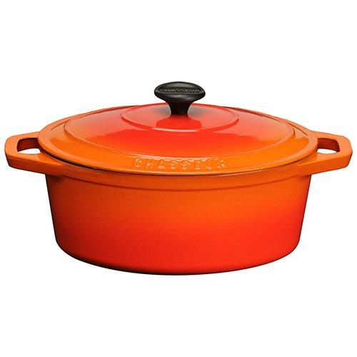 Chasseur Cast Iron 29cm, 3.8ltr Oval Flame Casserole