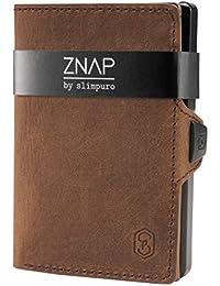 ZNAP Tarjetero RFID Metálico con Compartimento para Monedas – Mini Cartera con Monedero de Aluminio – Tarjetero Billetero Minimalista para 12 Tarjetas – Monedero Hombre