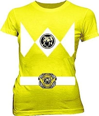 Power Rangers Jaune Ranger Costume Jaune T-shirt pour enfant Thé - jaune - S
