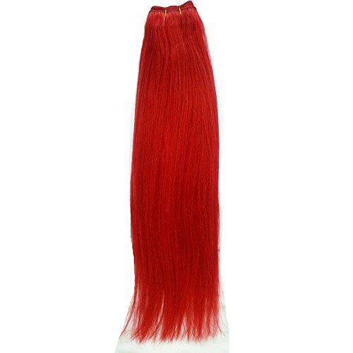 40,6 cm pouce (40 cm) 5 A droite cheveux non traités brésiliens vierges cheveux cheveux trame remy extension de cheveux droite # rouge vif européenne cheveux couleur