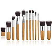 STELLAIRE CHERN 11 Pieces Professional Makeup Brush Set Cosmetic Brushes Kit - Bamboo Handle