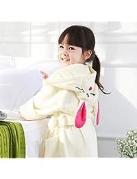 Bathrobe Albornoz Infantil de Dibujos Animados, toallitas absorbentes con toallitas absorbentes de Toalla de algodón