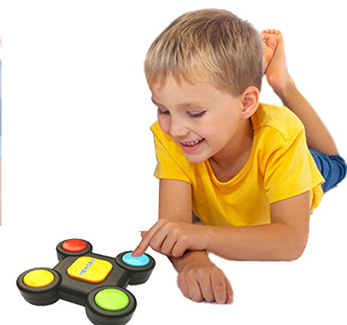 Memory Buzzer mit Licht & Sound, Memory Lernspielzeug für Kleinkinder, Motorik Spielzeug - 3