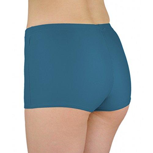 Aquarti Damen Badeshorts Hotpants Unifarben Gemustert Jeans