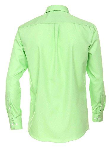 CASAMODA Herren Hemd 006052 72er Ärmel 100% Baumwolle - Comfort Fit - extralang Grün