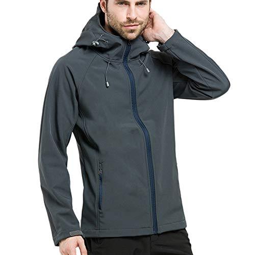 Artistic9-Kleidung Herren Softshell Jacke Funktionsjacke mit Kapuze für Outdoor Sports Freizeitjacke
