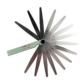 AHL 0.02-1mm Fühlerlehre Blätter 17 Blätter Fühlerlehren-Satz (100mm)
