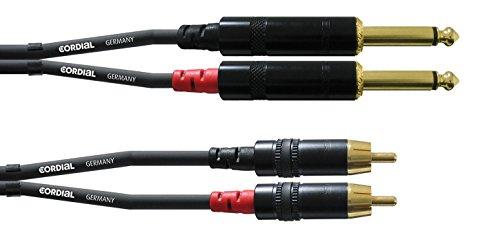 INTRO CFU 1,5 PC Cinch/RCA-Kabel, 1,5m schwarz Cinch-audio-pc