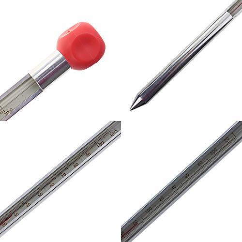monitoriza la temperatura del suelo antes de plantar Term/ómetro de suelo de aluminio de 320 mm