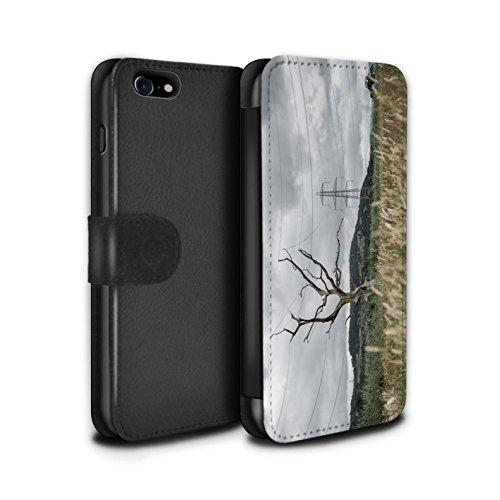 Stuff4 Coque/Etui/Housse Cuir PU Case/Cover pour Apple iPhone 8 / Pack 29pcs Design / Imaginer Collection Arbre Électrique