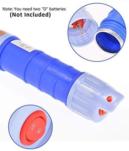 LOVEQIZI Batteriebetriebene Flüssigkeitstransferpumpe Tragbare Siphonpumpe mit biegbarem Saugrohr für Diesel, Kraftstoff, Öl, Wasser, Gas, Aquarium,C -