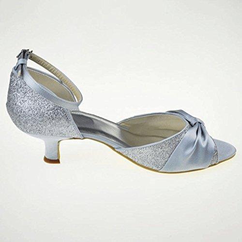 Kevin Fashion , Chaussure de mariée fashion femme Plateado - plata
