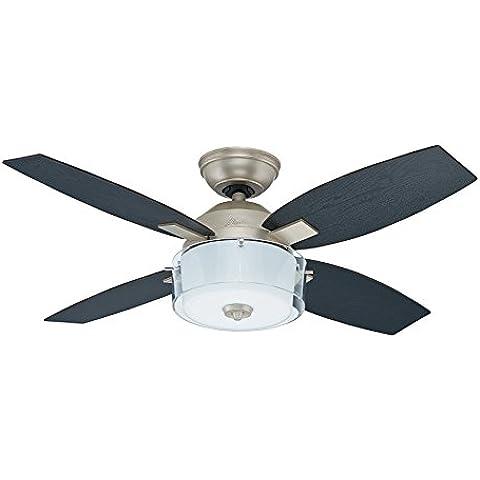 Hunter Fan 50619 Central Park - Ventilador de techo con luz estilo estaño renacimiento antiguo