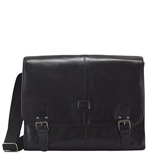 BricŽs Life Pelle cartella - borsetta uomo 38 cm Black