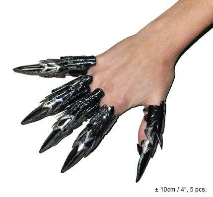 79011edd5fc5 Set ditali effetto metallo unghie con artigli snodabili usato Spedito  ovunque in Italia