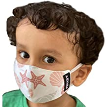 ARiANA DuoSafe Kid's Very Fine Cotton Face Mask (Extra Small 2-4 Years, Mixed Designs and Colors)