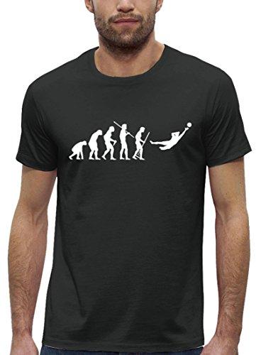 Fußball EM WM Premium Herren T-Shirt aus Bio Baumwolle EVOLUTION TORWART Stanley Stella Anthrazite