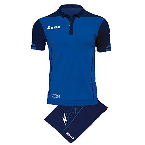 Zeus Kit Aquarius Herren Trikot Shirt Hosen Klein Armel Kit Fußball Hallenfußball (XL, BERNSTEIN-SCHWARZ) XS ROYAL - BLU