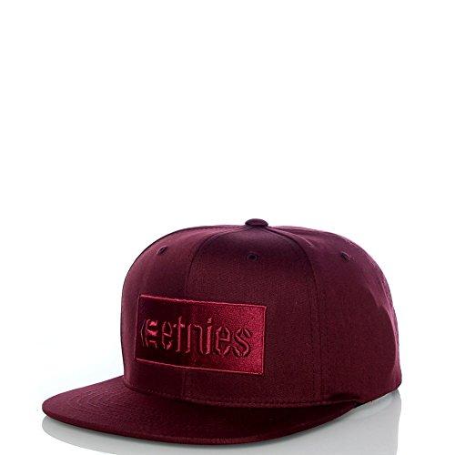 Etnies Herren Caps / Snapback Cap Corp Box rot Verstellbar