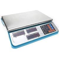 Cablematic - Balanza mostrador de sobremesa con bandeja de 335x230mm - báscula 30Kg - Rojo