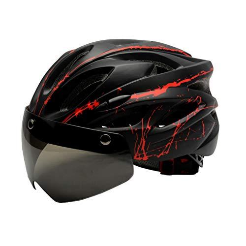 QIULAO Casco magnético Las Gafas Montar Bicicleta