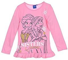 Idea Regalo - Frozen Bambina Maglietta a Maniche Lunga