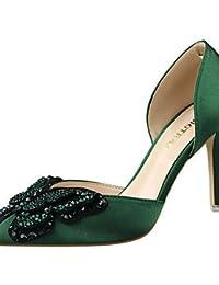 GGX/ Zapatos de mujer-Tacón Stiletto-Tacones-Tacones-Fiesta y Noche-Seda-Negro / Rosa / Rojo / Gris / Desnudo , gray-us8 / eu39 / uk6 / cn39 , gray-us8 / eu39 / uk6 / cn39