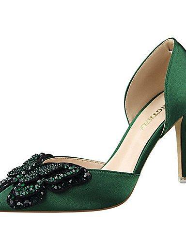 WSS 2016 Chaussures Femme-Soirée & Evénement-Noir / Vert / Rose / Rouge / Gris / Nu-Talon Aiguille-Talons-Chaussures à Talons-Soie black-us5 / eu35 / uk3 / cn34