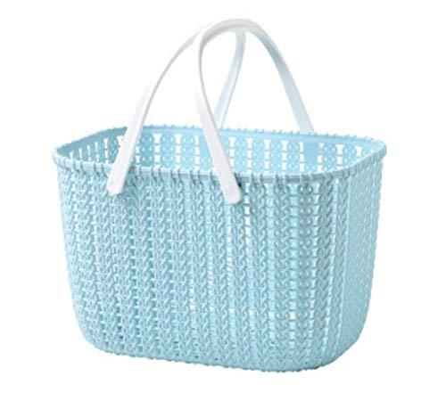 Heylookhere Multifunktion und nützlich Portable Kunststoff Bad Bad Ablagekorb Lagerung Snack Spielzeug Lagerung Basket_Blue