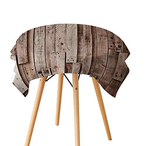 KJGUODP Tischdecke Vintage-Stil Holztür Foto print3DDigitaldruckStaubdichtGeschmacklos...
