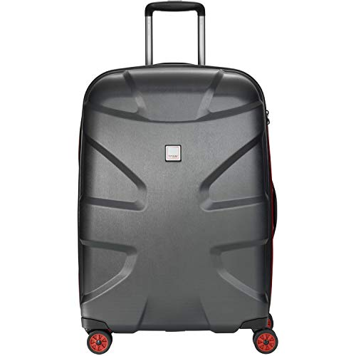 Titan X2 4-Rollen-Trolley M+ 71 cm Black Brushed