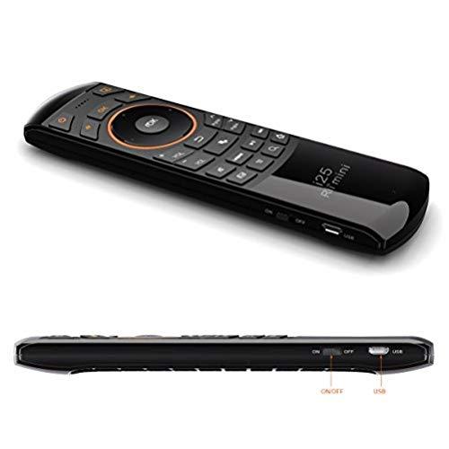 Rii Mini i25 sans fil - Mini Clavier Air Mouse et télécommande infrarouge pour Android TV Box, Mini PC