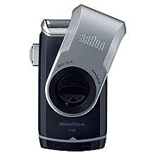Braun PocketGo M90 MobileShave Portable Shaver, Travel Shaver