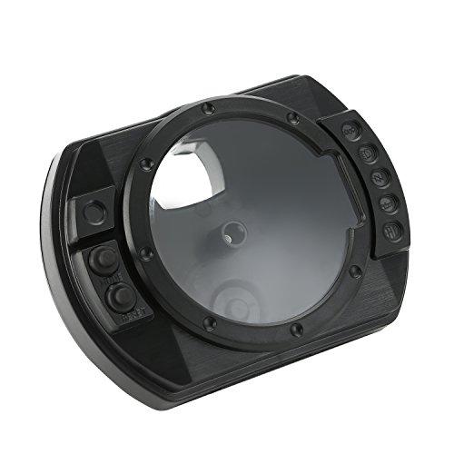 CICMOD Hülle für Motorrad Tachometer Drehzahlmesser Geschwindigkeitsmesser Speedometer Tachometer Gauge Case Cover für KAWASAKI Z1000 Z750 ZX6R 636 2003-06
