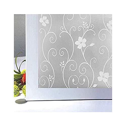 Rinalay 3D Pvc Lámina Impermeable Electrostática Autoadhesiva Vidrio Decorativo Pegamento Para Ventanas Vida de Moda Secret Home Apartment Sala De Estar Lobby Sala De Conferencias (45 * 500 Cm) Flores