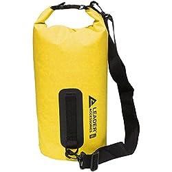 Leader Accessories Bolsa Estanca Bolsa Seca Impermeable Vinilo PVC para Rafting/Kayak/Navegación/Senderismo/Esquí/Buceo/Pesca/Escalada/Camping/Piragüismo/Barrabquismo (Amarillo, 5L)