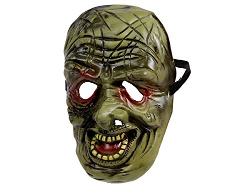 Alsino Halloween Maske Zombie Spooky Mask Horrormaske Gruselmaske, Variante wählen:P973007 Monster grün (Zombie Halloween, Maske)